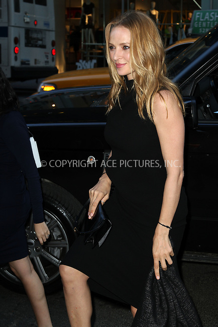 WWW.ACEPIXS.COM....April 17 2013, New York City....Uma Thurman arriving at the HRC Marriage for Equality USA celebration at the Calvin Klein Boutique on April 17, 2013 in New York City. ....By Line: Zelig Shaul/ACE Pictures......ACE Pictures, Inc...tel: 646 769 0430..Email: info@acepixs.com..www.acepixs.com