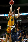 SIOUX FALLS, SD - MARCH 8: Tyler Witz #44 of the North Dakota State Bison shoots over R.J. Fuqua #12 of the Oral Roberts Golden Eagles at the 2020 Summit League Basketball Championship in Sioux Falls, SD. (Photo by Dave Eggen/Inertia)