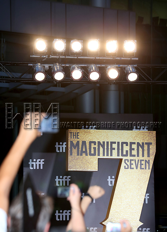 Atmosphere at 'The Magnificent Seven' Red Carpet Gala Opening Night of the 2016 Toronto International Film Festival at TIFF Bell Lightbox on September 8, 2016 in Toronto, Canada.