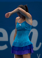 Jalena Jankovic (SRB) aganst Agnes Szavay (Hun) in the first rpound of the Ladies Singles. Szavay beat jankovic 5-7 6-1 7-6..International Tennis - Medibank International Sydney - MON 11 Jan 2010 - Sydney Olympic Park  Tennis Centre- Sydney - Australia ..© Frey - AMN Images, 1st Floor, Barry House, 20-22 Worple Road, London, SW19 4DH.Tel - +44 20 8947 0100.mfrey@advantagemedianet.com