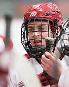 Dan Ford (Harvard - 5) - The Harvard University Crimson defeated the visiting Clarkson University Golden Knights 3-2 on Harvard's senior night on Saturday, February 25, 2012, at Bright Hockey Center in Cambridge, Massachusetts.