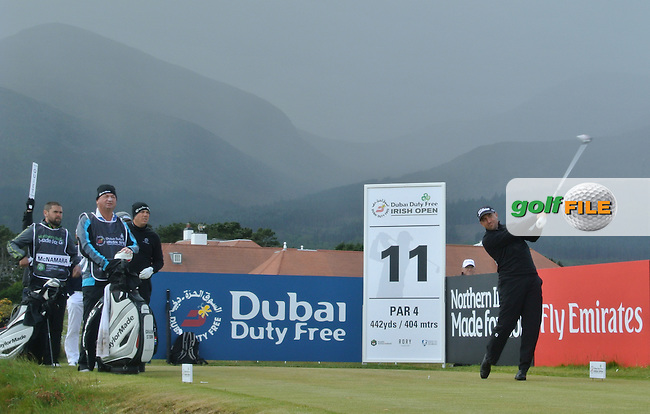 Darren Fichardt (RSA) on the 11th tee during Round 1 of the 2015 Dubai Duty Free Irish Open, Royal County Down Golf Club, Newcastle Co Down, Northern Ireland. 28/05/2015<br /> Picture Thos Caffrey, www.golffile.ie