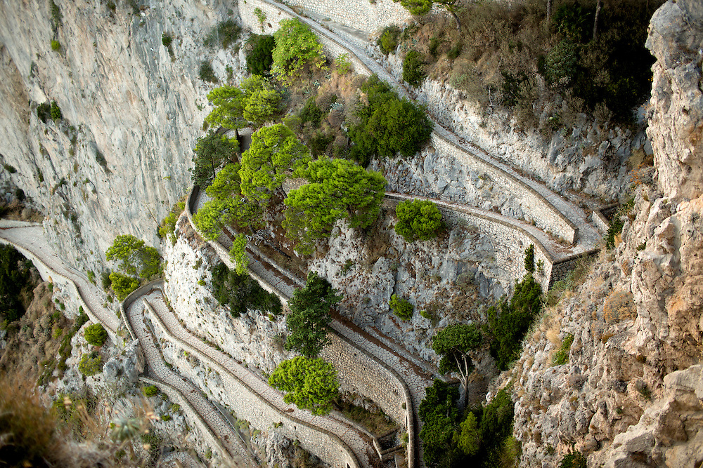 Via Krupp is seen on Monday, Sept. 21, 2015, on the island of Capri in Italy. (Photo by James Brosher)