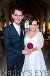 Marie Enright, daughter of Danny & Noreen Enright, Gurtcreen, Listowel & David Carr, son of John & the late Anne Richardson, Moycullen, Galway who were married in St. Mary's Church, Listowel by Fr. Kevin McNamara on Saturday last. Best man was Chris Walsh and the groomsmen were Steve Carr, Eoghna Carr, Billy Keane & Danny Enright. The brides maids were Anna Enright, Tina Twomey, Karen Enright, Breda O'Connell & Noreen Enright. The flower girls were Srah Loughlin & Katelyn Twomey. the page boys were Jamie Twomey, Jason Dunne & Dylan O'Keeffe. The reception was held in the Listowel arms Hotel and the couple will live in Listowel.