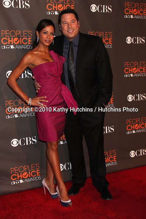 Dania Ramirez & Greg Grunberg.arriving  at the 2010 People's Choice Awards.Nokia Theater.January 6, 2010.©2010 Kathy Hutchins / Hutchins Photo.