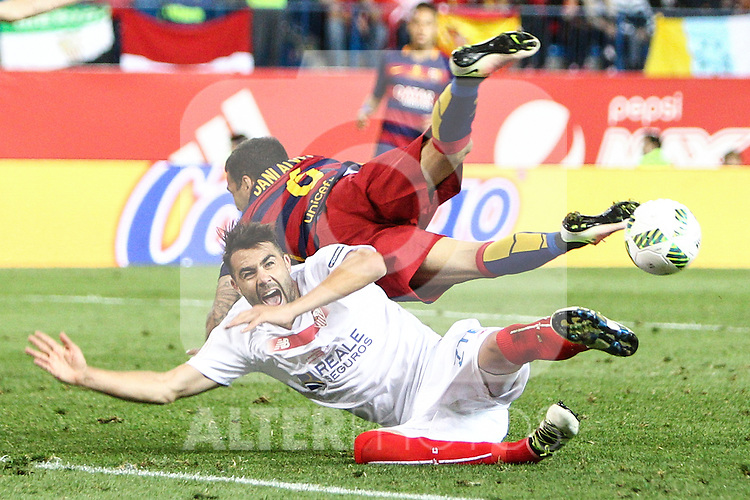 FC Barcelona's Daniel Alves and Sevilla CF's Iborra   during Spanish Kings Cup Final match. May 22,2016. (ALTERPHOTOS/Rodrigo Jimenez)