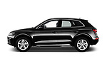 Car Driver side profile view of a 2017 Audi Q5 Sport 5 Door SUV Side View