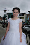 Amy Dillon at First communion in St Marys church.<br /> Picture www.newsfile.ie