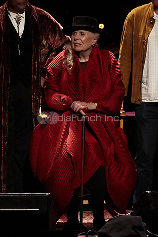 Los Angeles, CA - NOV 07:  Joni Mitchell performs at 'Joni 75: A Birthday Celebration Live At The Dorothy Chandler Pavilion' on November 07 2018 in Los Angeles CA. Credit: CraSH/imageSPACE/MediaPunch