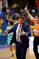 Xavi Pascual coach during Blancos de Rueda Valladolid V Barcelona ACB match. January 20, 2013..(ALTERPHOTOS/Victor Blanco) /NortePhoto