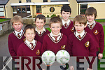 Pupils at Holy Family National School enjoyed the Fútsal tournament in Killorglin last week. .Front L-R Robert Kerins, Adam Curran and  Cormac Lynch. .Back L-R Niall Fitzmaurice, Gavin Burrows, Brian Teahan and DJ Griffin. .Missing from team photo Paige Hallissey. .