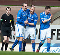 St Johnstone's Steven Anderson (6) celebrates after he scores their first goal.