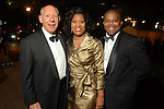 Mayor Bill White with Deidre and Terence Fontaine at the Discovery Green Gala at Discovery Green Park downtown Saturday Feb. 23,2008.(Dave Rossman/For the Chronicle)