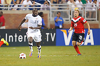 7 June 2011: USA Men's National Team forward Jozy Altidore (17) and Canada defender Marcal De Jong (19) during the CONCACAF soccer match between USA and Canada at Ford Field Detroit, Michigan. USA won 2-0.