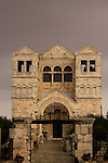 Israel, Jezreel valley, the Franciscan Church of the Transfiguration on Mount Tabor, designed by architect Antonio Barluzzi