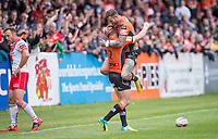 Picture by Allan McKenzie/SWpix.com - 13/05/2017 - Rugby League - Ladbrokes Challenge Cup - Castleford Tigers v St Helens - The Mend A Hose Jungle, Castleford, England - Castleford's Zak Hardaker congratulates Greg Minikin on his try against St Helens.