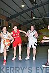 Karen Griffin Team Tom McCarthy's challenges Eimear Buckley St Paul's in the Senior Ladies final at St Mary's Basketball blitz in Castleisland on Thursday