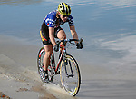 29 October 2006: U.S. Women's Cyclocross Champion, Katie Compton, off the front at the UCI Boulder Cup Series, Boulder, Colorado.