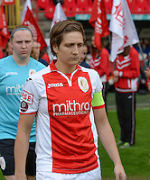 20150508 - LIEGE , BELGIUM : Standard's Maud Coutereels pictured during the soccer match between the women teams of Standard de Liege Femina and PSV Eindhoven , on the 26th and last matchday of the BeNeleague competition Friday 8 th May 2015 in Stade Maurice Dufrasne in Liege . PHOTO DAVID CATRY