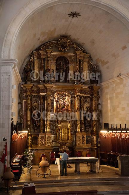 Main altar, interior of the Parish Church Santa Margalida