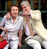 EILEEN FORD AND HUSBAND 08/26/2004<br /> IN SOHO NEW YORK CITY<br /> Photo By John Barrett/PHOTOlink
