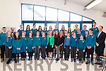CHOIR: The Mercy Mounthawk Choir who were winner of the Cork Choral Choir and were congratulated by Jan O'Sullivan Minister of Education & Skills on Thursday on her visit to Mounthawk Secondary School.