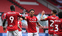 8th July 2020; Ashton Gate Stadium, Bristol, England; English Football League Championship Football, Bristol City versus Hull City; Famara Diedhiou of Bristol City celebrates with his team after scoring in 41st minute 1-0