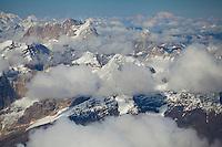 Cloudscape, Denali NP. Aerial view of Denali.
