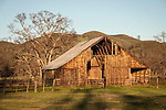 Wooden barn in the Coast Range near Elk Creek, Calif.