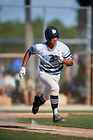 Daylen Reyes during the WWBA World Championship at the Roger Dean Complex on October 19, 2018 in Jupiter, Florida.  Daylen Reyes is a shortstop from Northridge, California who attends Notre Dame High School and is committed to UCLA.  (Mike Janes/Four Seam Images)