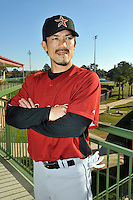 Feb 25, 2010; Kissimmee, FL, USA; The Houston Astros infielder Kazuo Matsui (3) during photoday at Osceola County Stadium. Mandatory Credit: Tomasso De Rosa/ Four Seam Images