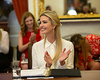 First Daughter and Advisor to the President Ivanka Trump attends a Women, Peace, and Security Roundtable with the U.S. Foreign Relations Committee at the U.S. Capitol in Washington D.C., U.S., on June 11, 2019. Photo Credit: Stefani Reynolds / CNP/AdMedia