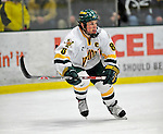 16 February 2008: University of Vermont Catamounts' forward and team Captain Dean Strong, a Junior from Mississauga, Ontario, in action against the Merrimack College Warriors at Gutterson Fieldhouse in Burlington, Vermont. The Catamounts defeated the Warriors 2-1 for their second win of the 2-game weekend series...Mandatory Photo Credit: Ed Wolfstein Photo