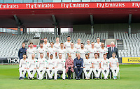 Picture By Allan McKenzie/SWpix.com - 11/04/18 - Cricket - Lancashire County Cricket Club Photo Call Media Day 2018 - Emirates Old Trafford, Manchester, England - Lancashire County Cricket Club Team Photo 2018 with Emirates.