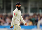 7th September 2017, Lords Cricket Ground, London, England; International Test Match Series, Third Test, Day 1; England versus West Indies; Moeen Ali of England takes to his fielding position