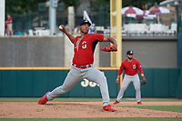 Springfield Cardinals pitcher Johan Oviedo (44) during a Texas League game against the Frisco RoughRiders on May 5, 2019 at Dr Pepper Ballpark in Frisco, Texas.  (Mike Augustin/Four Seam Images)