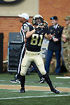 Wake Forest Demon Deacons wide receiver Ian Driscoll (81) warms-up prior to the game against the Rice Owls at BB&T Field on September 29, 2018 in Winston-Salem, North Carolina. The Demon Deacons defeated the Owls 56-24. (Brian Westerholt/Sports On Film)