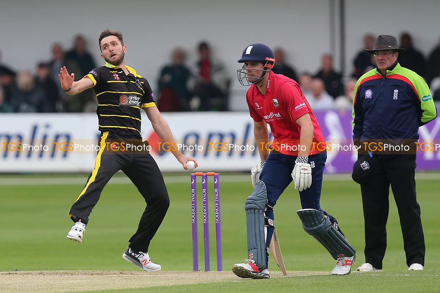 Matt Taylor in bowling action for Gloucestershire during Essex Eagles vs Gloucestershire, Royal London One-Day Cup Cricket at The Cloudfm County Ground on 4th May 2017