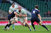 James Kilroe of Cambridge University takes on the Oxford University defence. The Varsity Match between Oxford University and Cambridge University on December 10, 2015 at Twickenham Stadium in London, England. Photo by: Patrick Khachfe / Onside Images