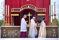 Pope Francis  during mass for priests as part of the Jubilee Year of Mercy in St. Peter square at the Vatican,June 3, 2016.