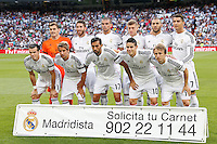 13.09.2014 SPAIN -  La Liga 14/15 Matchday 03th  match played between Real Madrid CF vs Atletico de Madrid Bernabeu stadium. The picture show Team Group Liune-up
