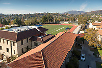 Occidental College's Kemp Stadium, Patterson Field and the Bill Henry Track.<br /> (Photo by Marc Campos, Occidental College Photographer)
