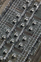 aerial photograph PG&E electrical substation Petaluma, Sonoma county, California