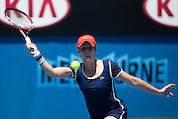 ALIZE CORNET (FRA)<br /> <br /> Tennis - Australian Open - Grand Slam -  Melbourne Park -  2014 -  Melbourne - Australia  - 16th January 2013. <br /> <br /> &copy; AMN IMAGES, 1A.12B Victoria Road, Bellevue Hill, NSW 2023, Australia<br /> Tel - +61 433 754 488<br /> <br /> mike@tennisphotonet.com<br /> www.amnimages.com<br /> <br /> International Tennis Photo Agency - AMN Images
