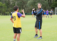 Orlando, FL - Friday Oct. 14, 2016:   Lead instructor Vanni Sartini provides instruction to a player during a US Soccer Coaching Clinic in Orlando, Florida.