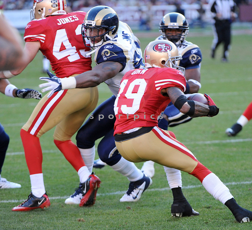 EUGENE SIMS, of the St. Louis Rams, in action during the Rams game against the San Francisco 49ers on December 4, 2011 at Candlestick Park in San Francisco, CA. The 49ers beat the Rams 26-0.