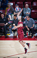 STANFORD, CA - March 14, 2019: Chris Moore at Maples Pavilion. The #8 Stanford Cardinal fell to the #6 Pepperdine Waves 3-0.