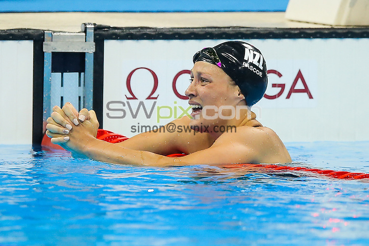 Picture by Rogan Thomson/SWpix.com - 11/09/2016 - 2016 Rio Paralympic Games - Swimming - Olympic Aquatics Centre, Rio de Janeiro, Brazil - Sophie Pascoe of New Zealand wind the Gold Medal in the Women's 200m IM SM10 Final setting a new World Record.