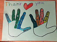 """""""Thank You Essential Workers"""" Drawing by Shashank Singh, Grade 3, Yarmouth, ME, USA"""