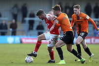 Ched Evans of Fleetwood Town and Callum Reynolds of Barnet during Barnet vs Fleetwood Town, Emirates FA Cup Football at the Hive Stadium on 10th November 2019